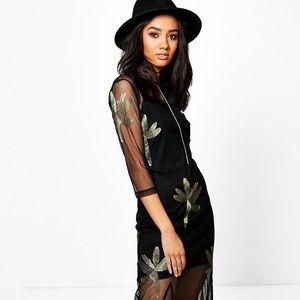 89fd3cb0d799 Boohoo Dresses | Sophia Embroidered Mesh Maxi Dress | Poshmark